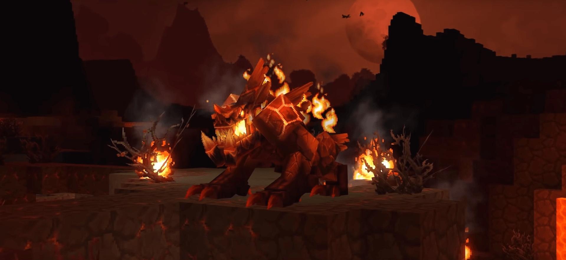 Dragón de fuego Hytale