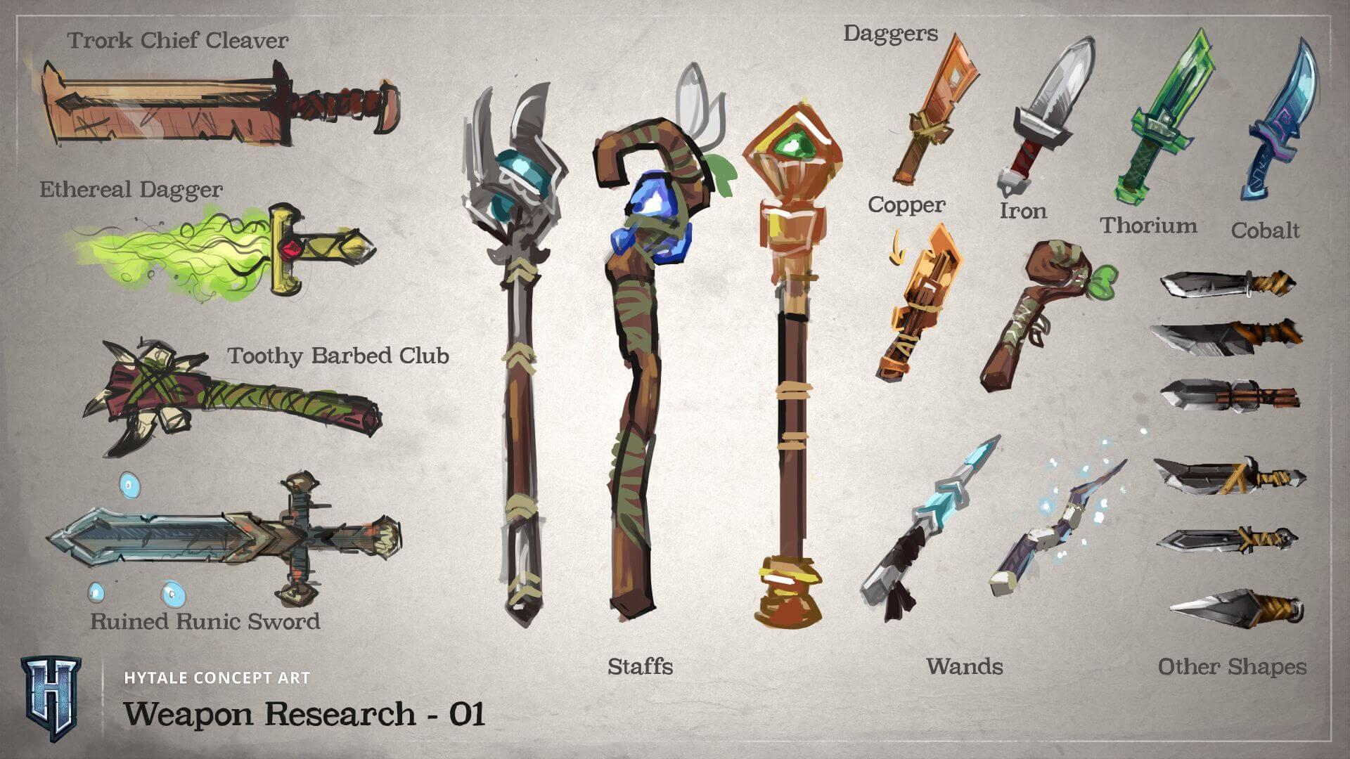 Tipos de armas en Hytale